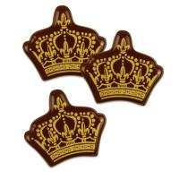 Corona dorata, cioccolato fondente