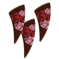 96 pz Rose su cassetto, cioccolato fondente