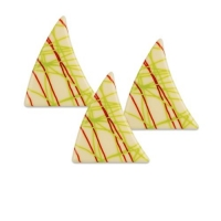 84 pz Triangolo, cioccolato bianco, colpi, rosso-verde