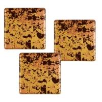 105 pz Quadrati, cioccolato  fondente, Antique