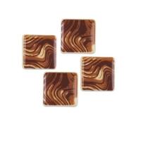 240 pz Quadrati piccoli, cioccolato  bianco marmorizzato