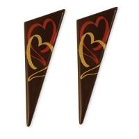 Triangolo, cioccolato fondente, cuori