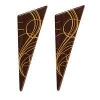 96 pz Triangolo, cioccolato fondente, decorazione
