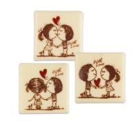 140 pz Quadrato  With Love , Cioccolato bianco, misti