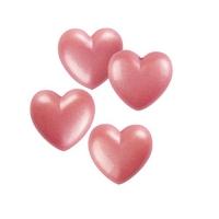 264 pz Cuori piccoli, ciocc. bianco,  rosa