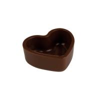 135 pz Cuore cavo, cioccolato fondente  fondente 3D