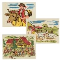 12 pz Placche decoro  folklore 11  in marzapane