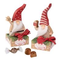 Babbo Natale di legno su scatola