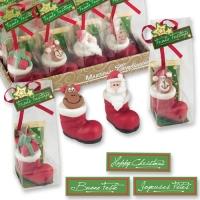 20 pz Stivali di Babbo Natale,di marzapane, ass.