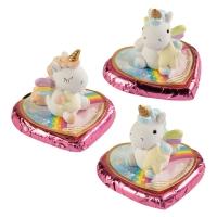 16 pz Elly Unicorno in resina con porta-messaggio,su scatola