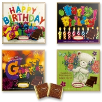 Scatole con cioccolatini, Buon compleanno