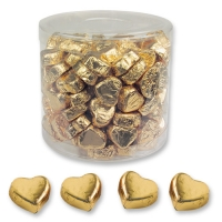 Cuori di praline piccoi, oro