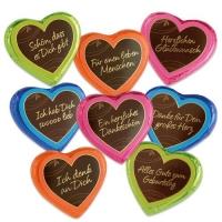 """Cuori di cioccolato grandi """"Colorline"""""""