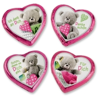 40 pz Cuori rosa con orsetti