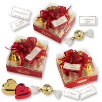 9 pz Candele a cuore rosso/dorate assortite