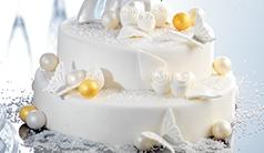 Decorazioni per la loro torta di nozze