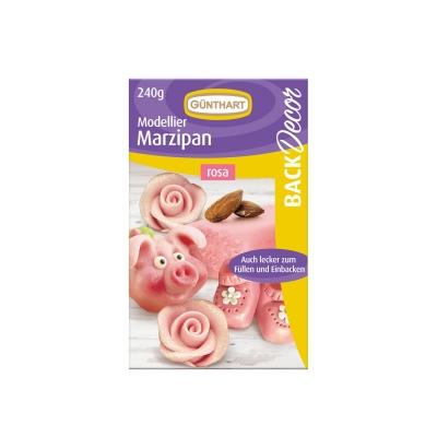 8 pz Marzapane da modellare, rosa