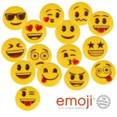 150 pz Emoji di zucchero, gialli, ass.