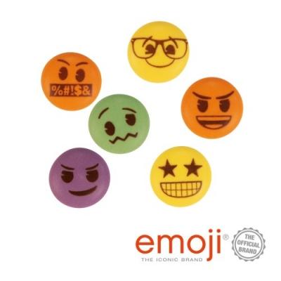 150 pz Emoji di zucchero, colorati, ass.