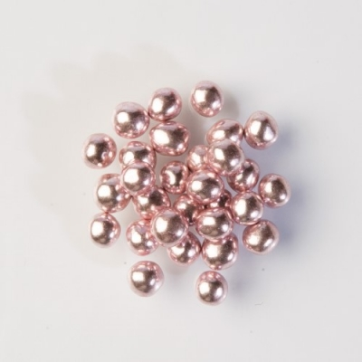 Perle luccicanti rosa, cuore cioccolato croccante