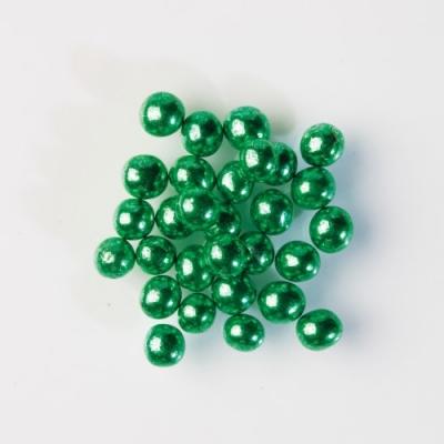 Perle luccicanti verde, cuore cioccolato croccante