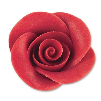 24 pz Marzapane rose rosse,grandi