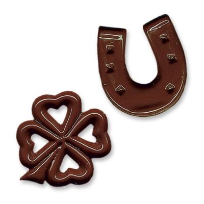 350 pz Ferri di cavallo e trifogli al cioccolato