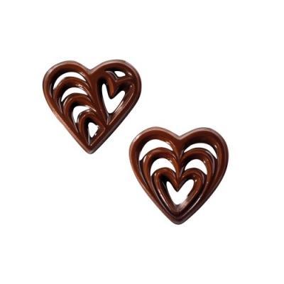 260 pz Filigrane di cioccolato, cuori