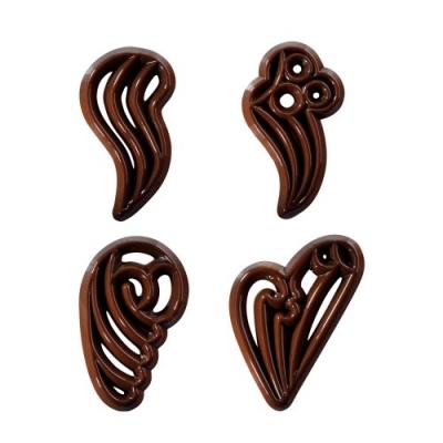 312 pz Filigrane al cioccolato