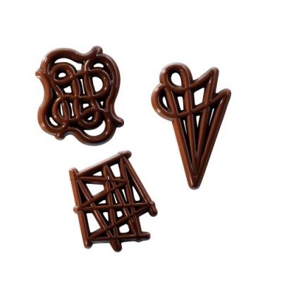 324 pz Filigrane di cioccolato ass.