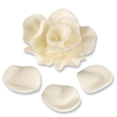 33 pz Rose bianche con foglie ass.