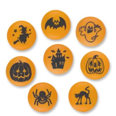 84 pz Motivi di Halloween in zucchero, ass.