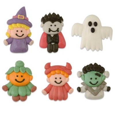 72 pz Figure Halloween, piatte, assortite