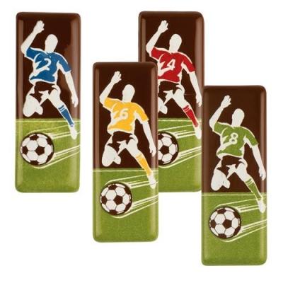 96 pz Placca Calcio, cioccolato fondente, ass.