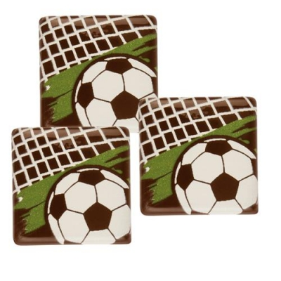 140 pz Quadrato Calcio, cioccolato fondente