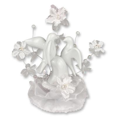1 pz Decorazione di porcellana, piccioni, bianca