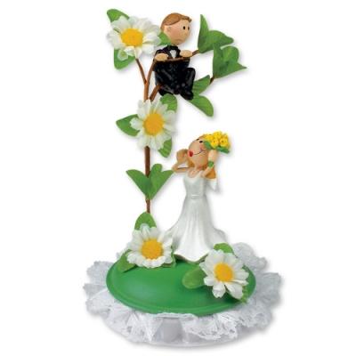1 pz Coppia sposi con fiori