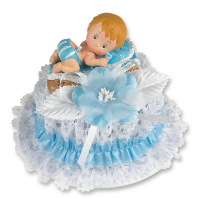 1 pz Bebè in resina, azzurri