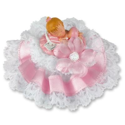 1 pz Bebè in resina, rosa