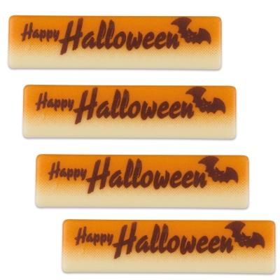 Placchetta  Happy Halloween , cioccolato bianco