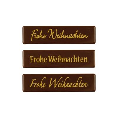 Placchetta  Frohe Weihnachten , cioccolato fondente