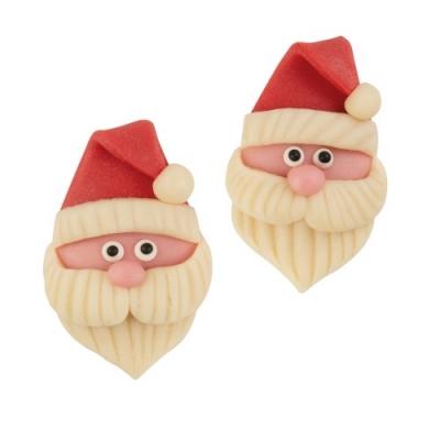 30 pz Babbo Natale,testa di marzapane,piatto