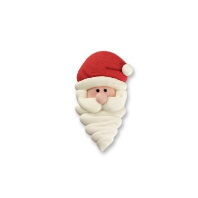 100 pz Faccie Babbo Natale di zucchero, piccole