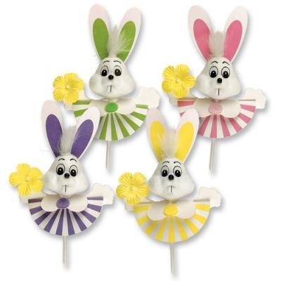 Coniglietti su bastoncini legno