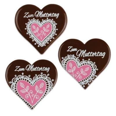 30 pz Placche di cioccolato, cuore, rosa