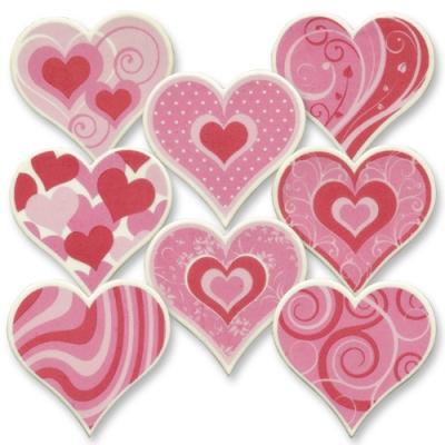 Placche a forma di cuore, grande