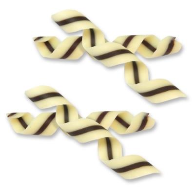 144 pz Spirale cioccolato bianco e nero
