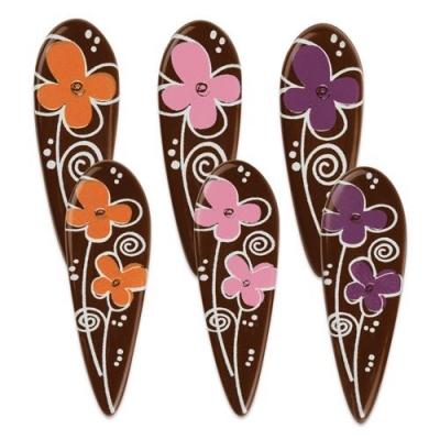 Decorazioni fiori, cioccolato fondente