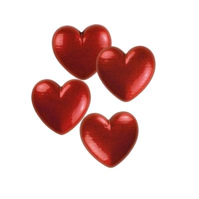 264 pz Cuori piccoli, cioccolato bianco, rossi