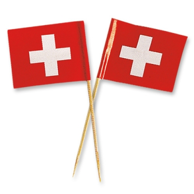 144 pz Bandiere svizzere grandi